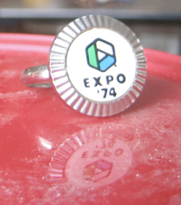 A ring from the original Expo '74. Photo: Ian Broyles.
