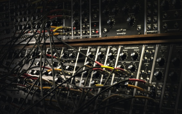 A Moog Modular patch. Photo: Maschinenraum